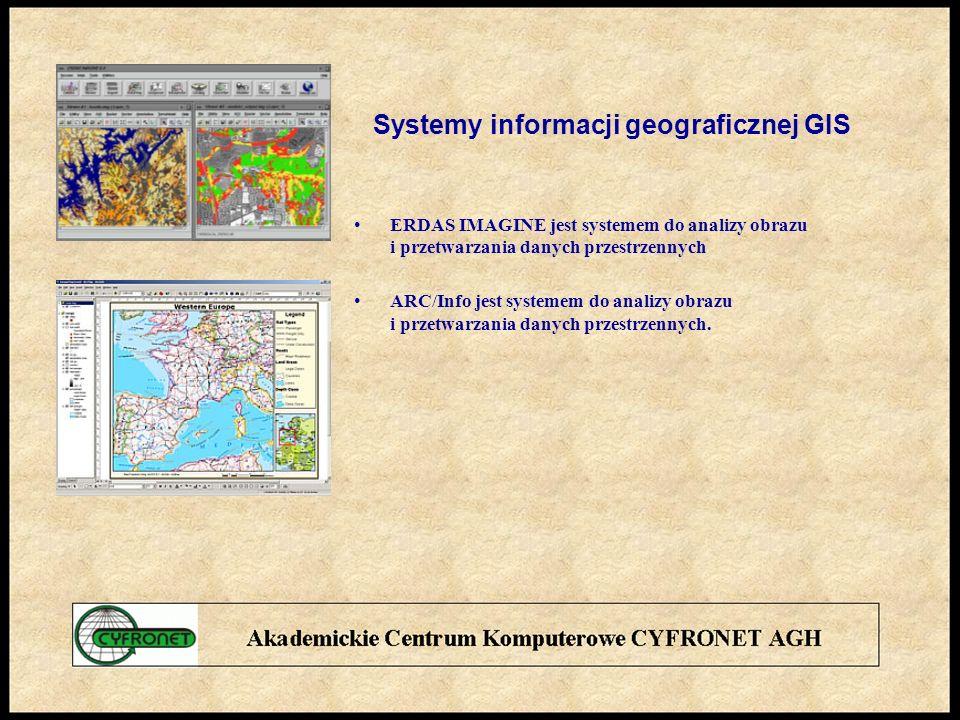 Systemy informacji geograficznej GIS ERDAS IMAGINE jest systemem do analizy obrazu i przetwarzania danych przestrzennych ARC/Info jest systemem do analizy obrazu i przetwarzania danych przestrzennych.