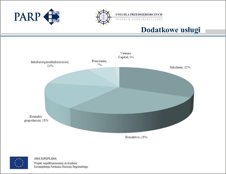 Dodatkowe usługi w podziale na beneficjentów i pozostałe fundusze