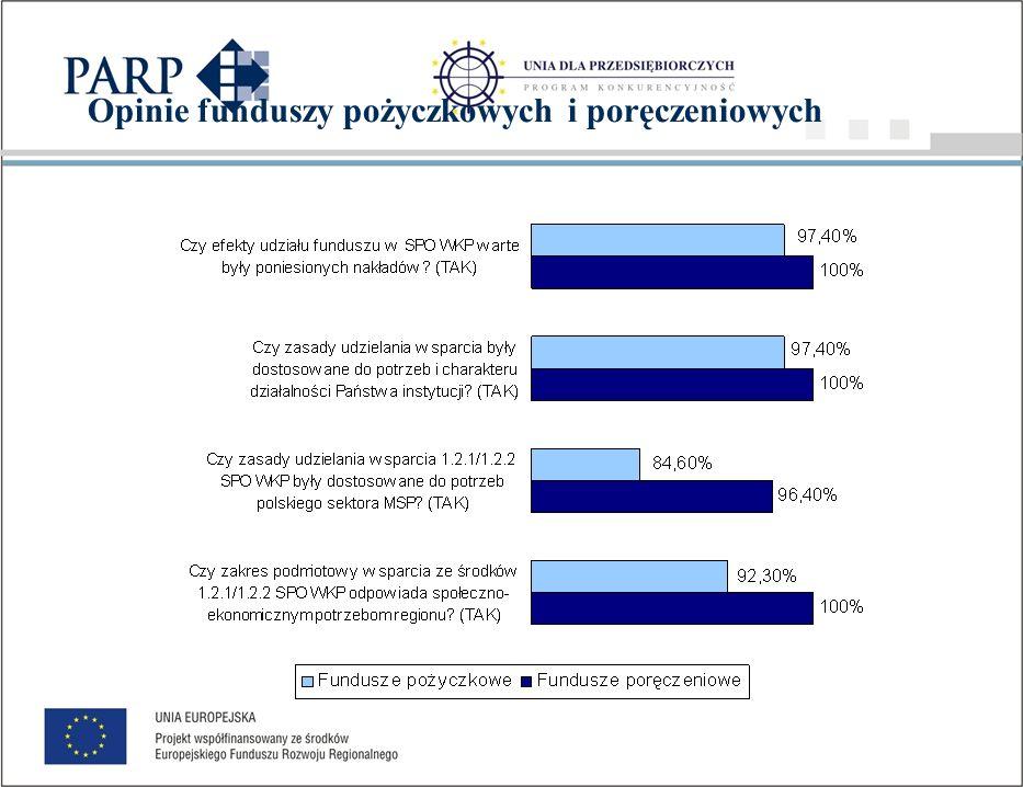 Oceny funduszy pożyczkowych i poręczeniowych Ocena w skali od 1 do 5
