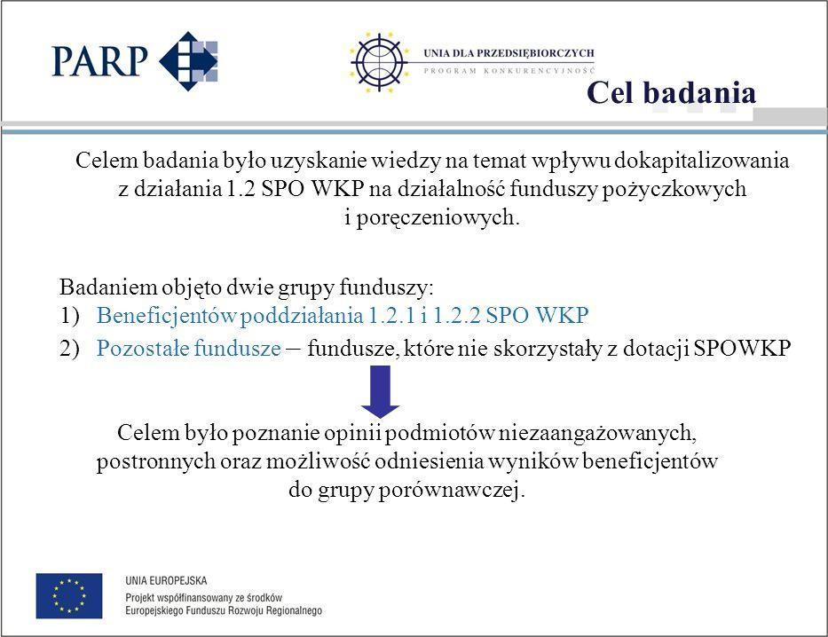 Ocena efektów poddziałania 1.2.1 i 1.2.2 SPOWKP Badanie zostało zrealizowane za pomocą techniki CAWI (ang.