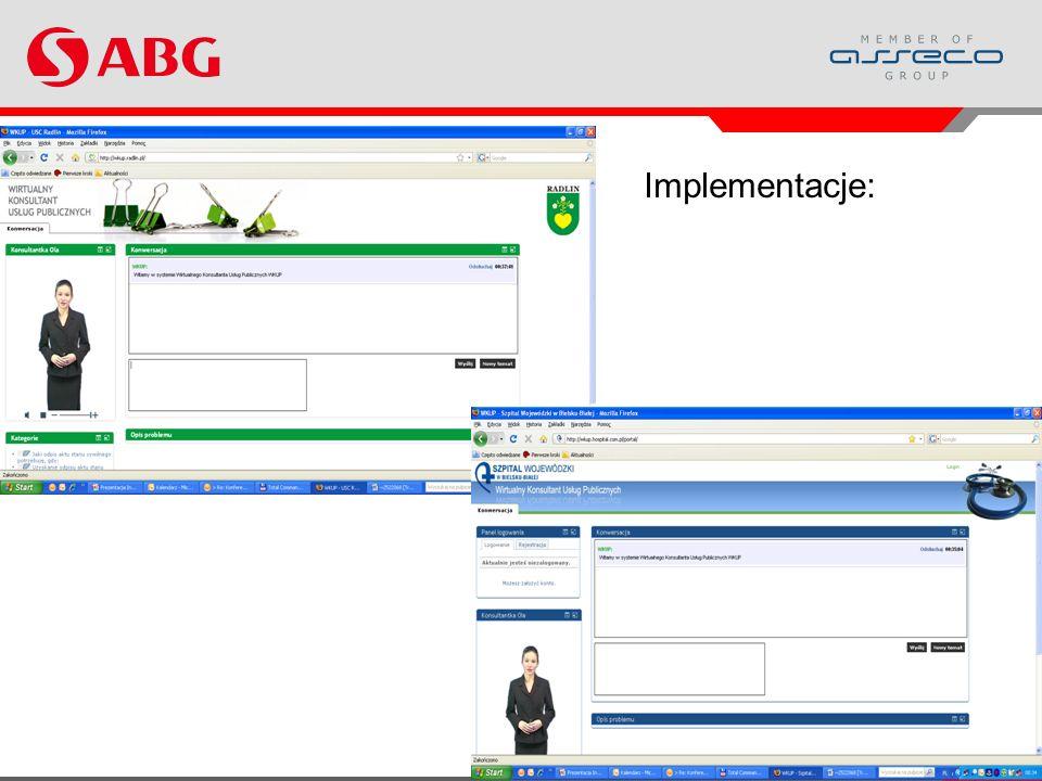 www.abg.com.pl 16 Implementacje: Projekt WKUP i jego wyniki