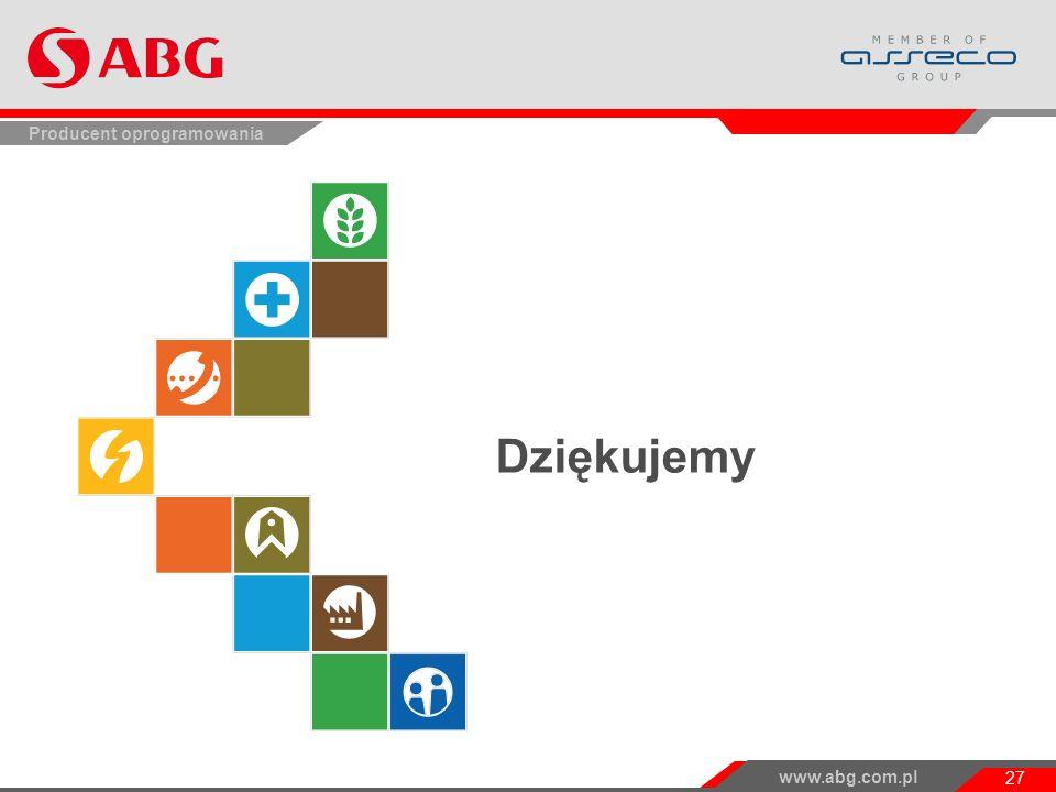 www.abg.com.pl 27 Producent oprogramowania Dziękujemy