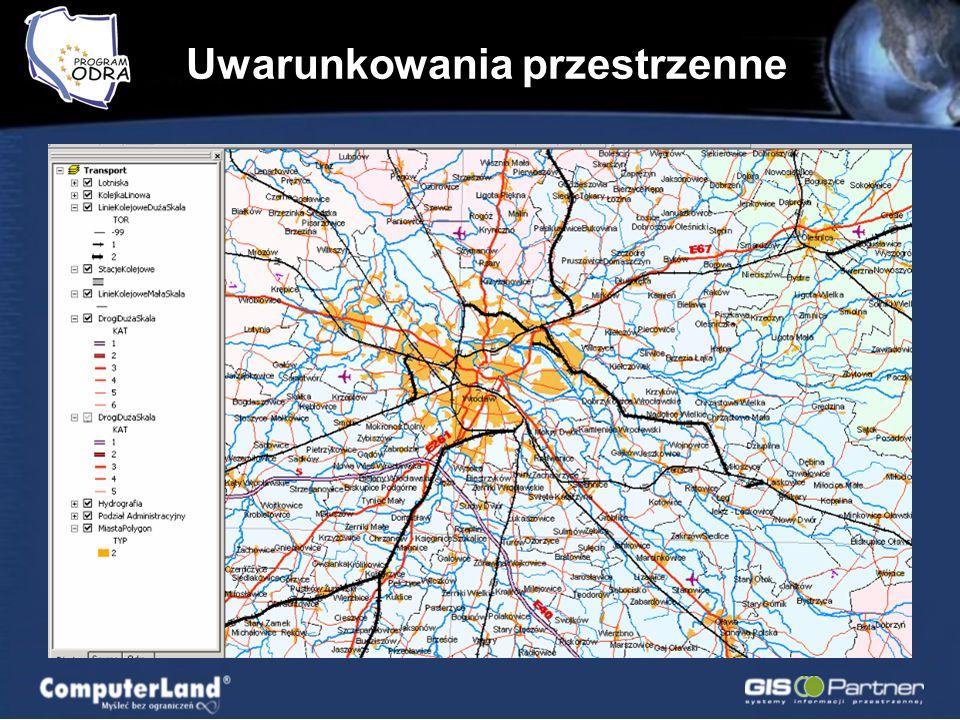 Komunikacja lądowa MPHP Hispometria Administracja Zagadnienia społeczno – gospodarcze Transport, turystyka, żegluga Ochrona przyrody Topografia Infrastruktura techniczna Uwarunkowania przestrzenne