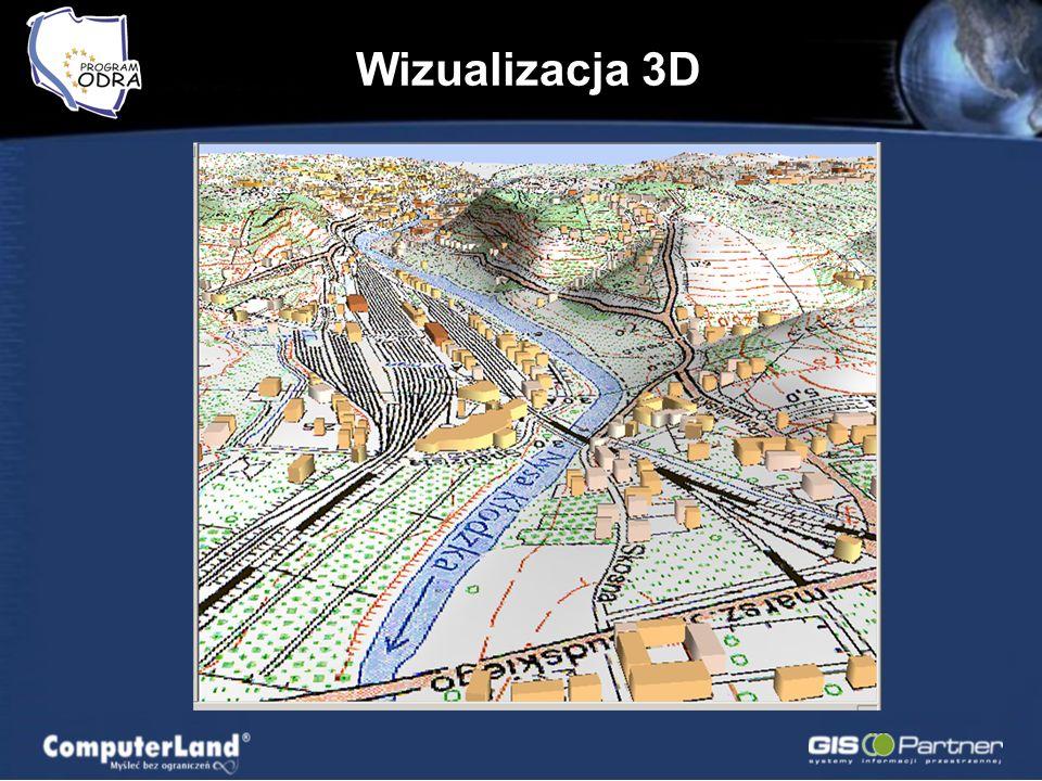 Wizualizacja 3D Dolina Odry Szczegółowo: –Wrocław –Kłodzko –Racibórz