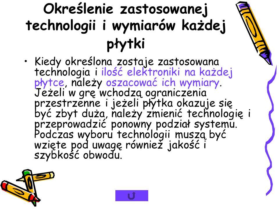 Podział systemu na poszczególne płytki Zaletą podziału systemu na kilka płytek jest zmniejszenie wymiarów i możliwość rozbudowy/wymiany poszczególnych