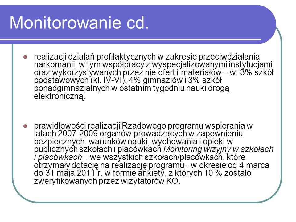 Monitorowanie cd.