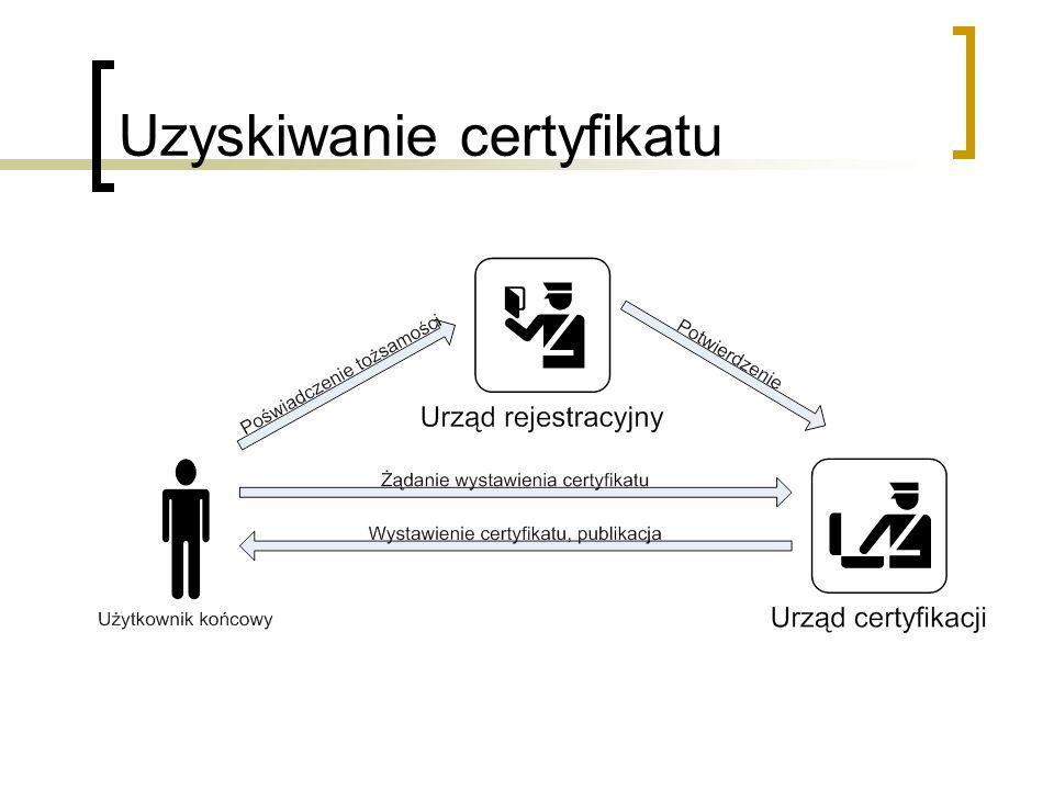 Uzyskiwanie certyfikatu