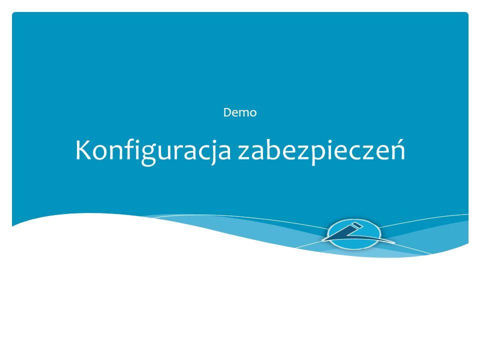 Konfiguracja zabezpieczeń Demo