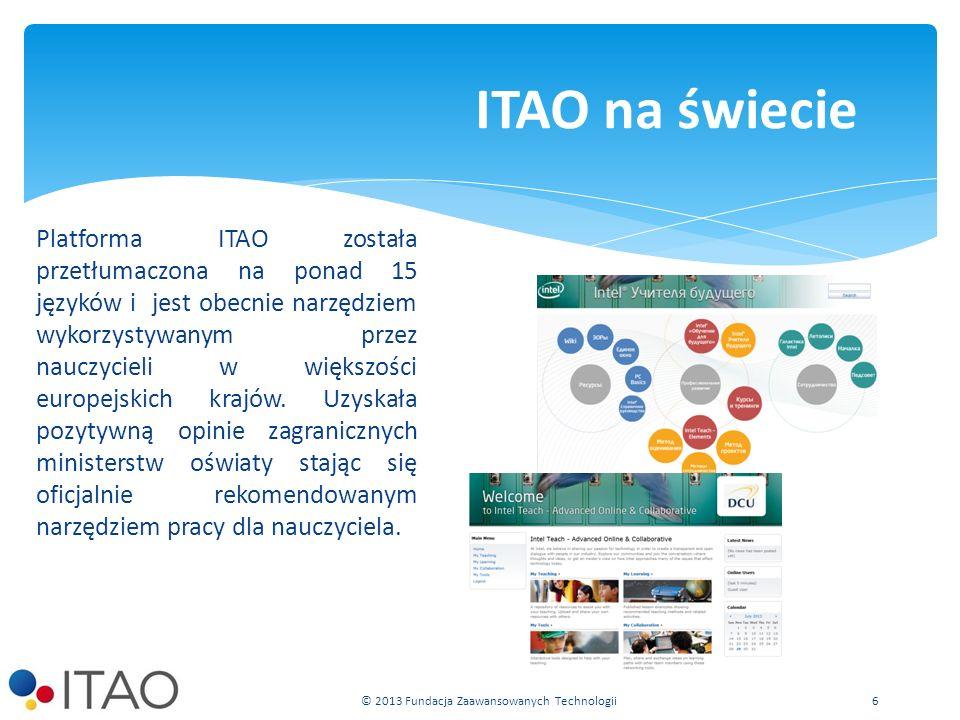Platforma ITAO została przetłumaczona na ponad 15 języków i jest obecnie narzędziem wykorzystywanym przez nauczycieli w większości europejskich krajów.