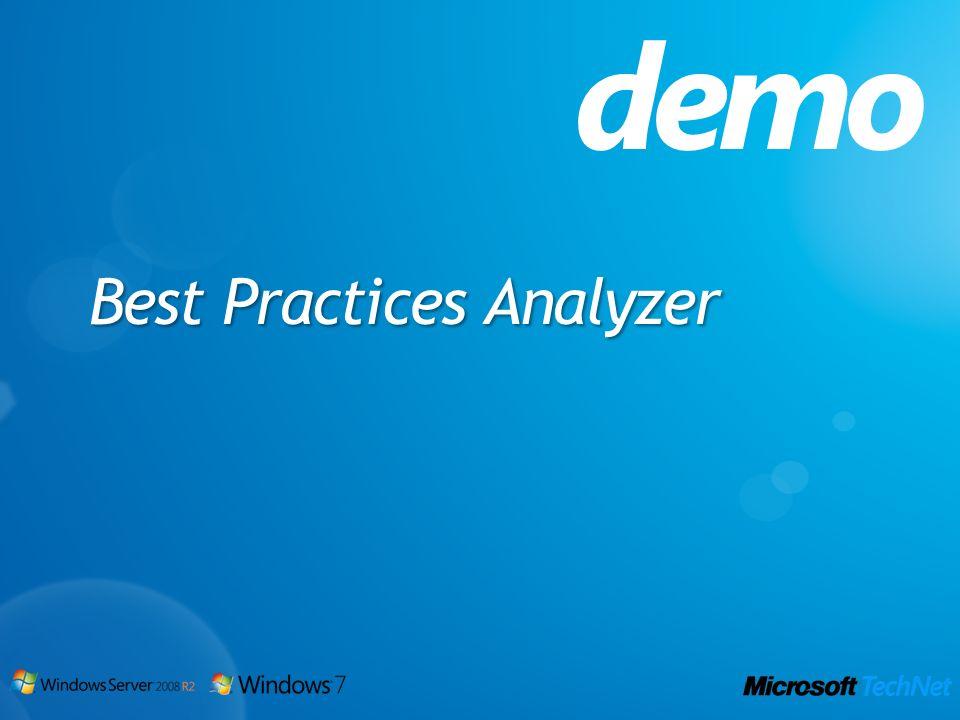Best Practices Analyzer demo
