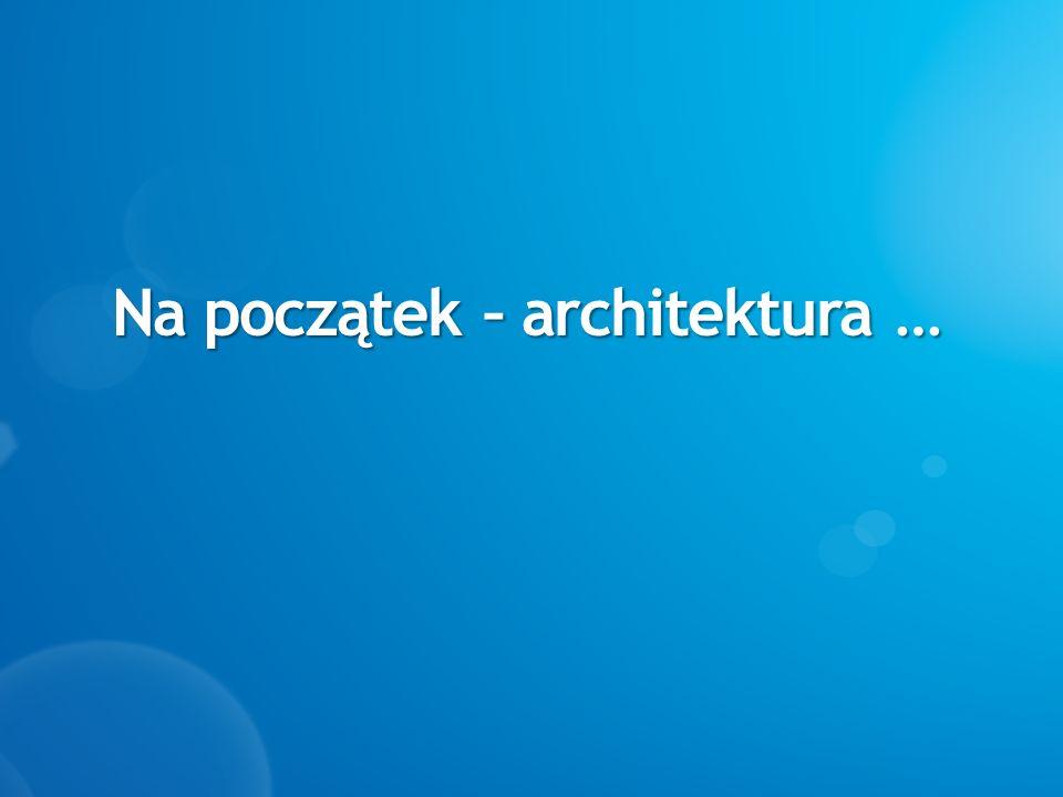 Na początek – architektura …