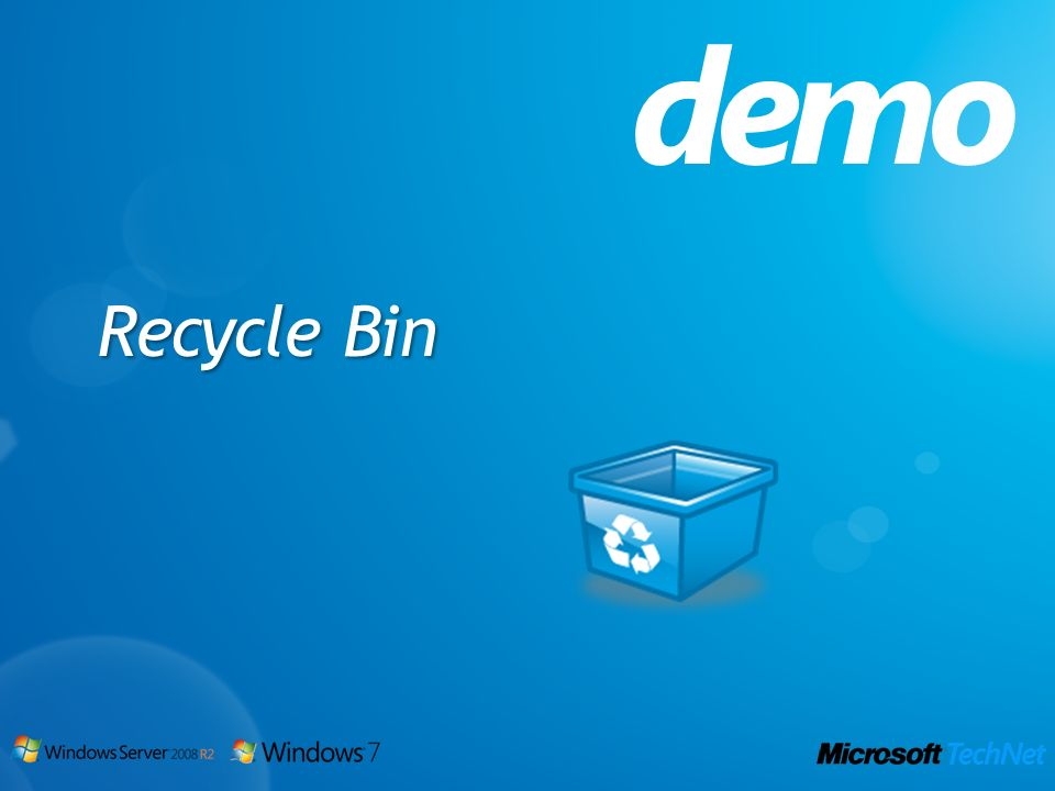 Recycle Bin demo