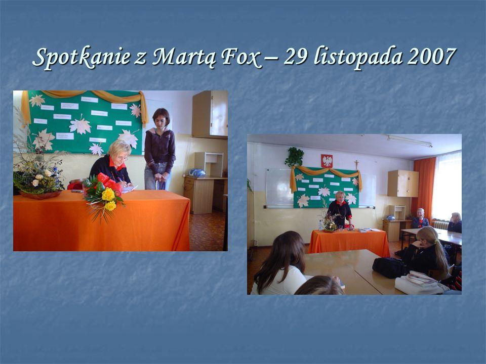 Spotkanie z Martą Fox – 29 listopada 2007