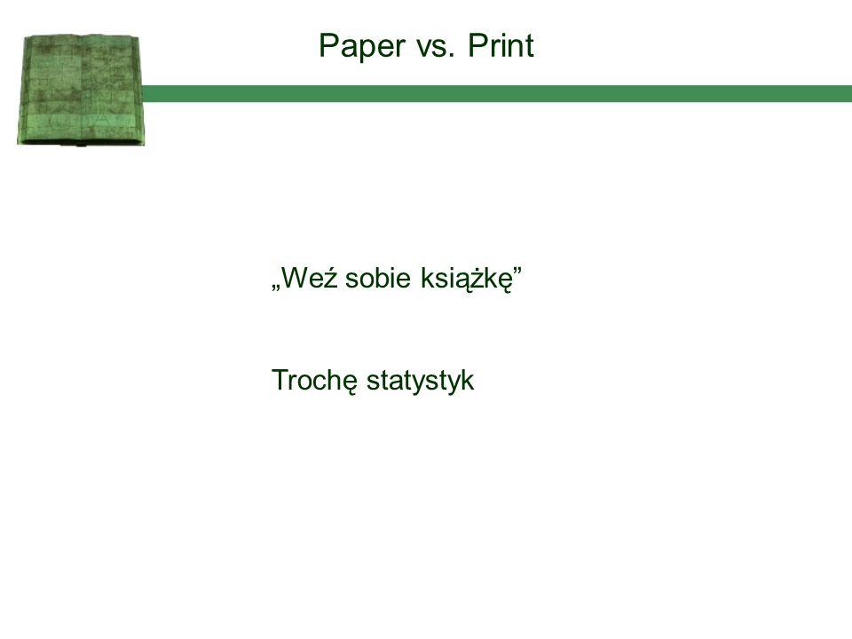 Weź sobie książkę Trochę statystyk Paper vs. Print