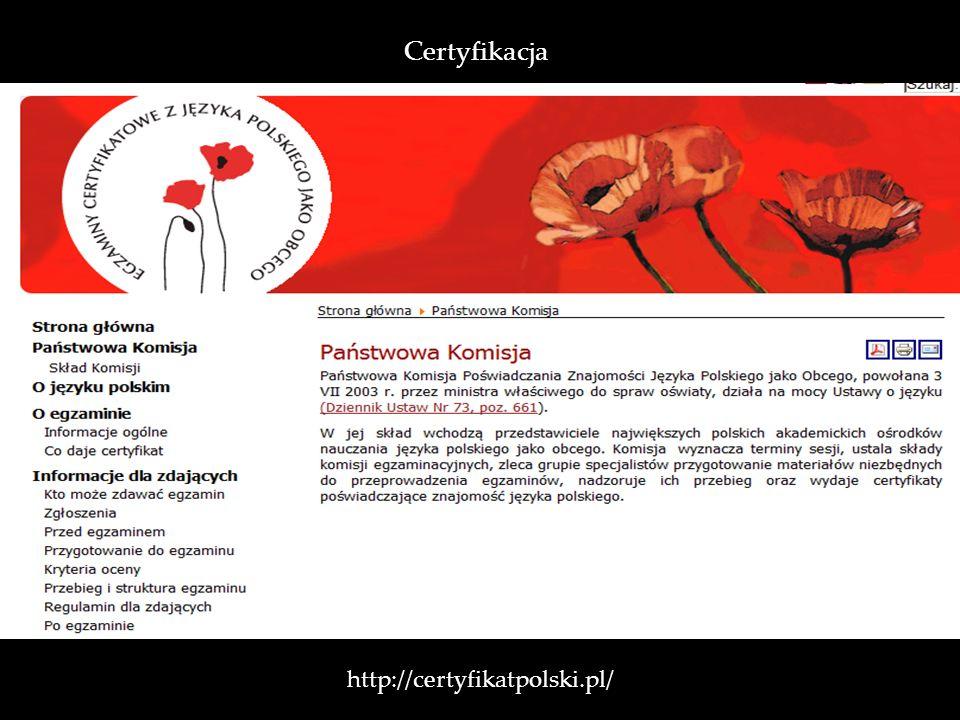 http://certyfikatpolski.pl/ Certyfikacja