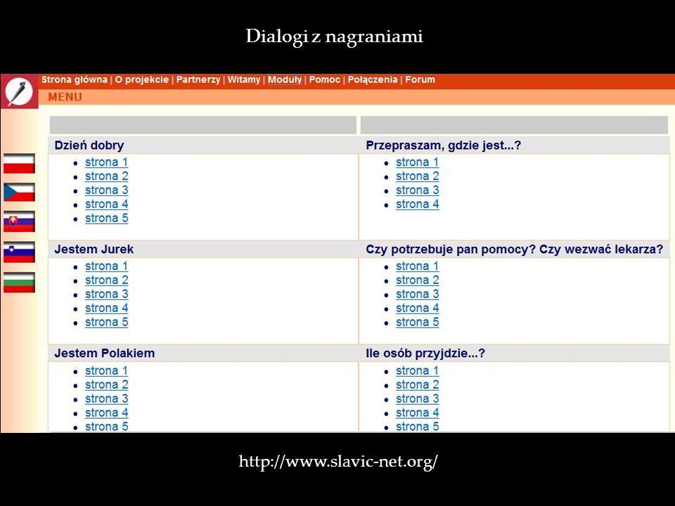 http://www.slavic-net.org/ Dialogi z nagraniami