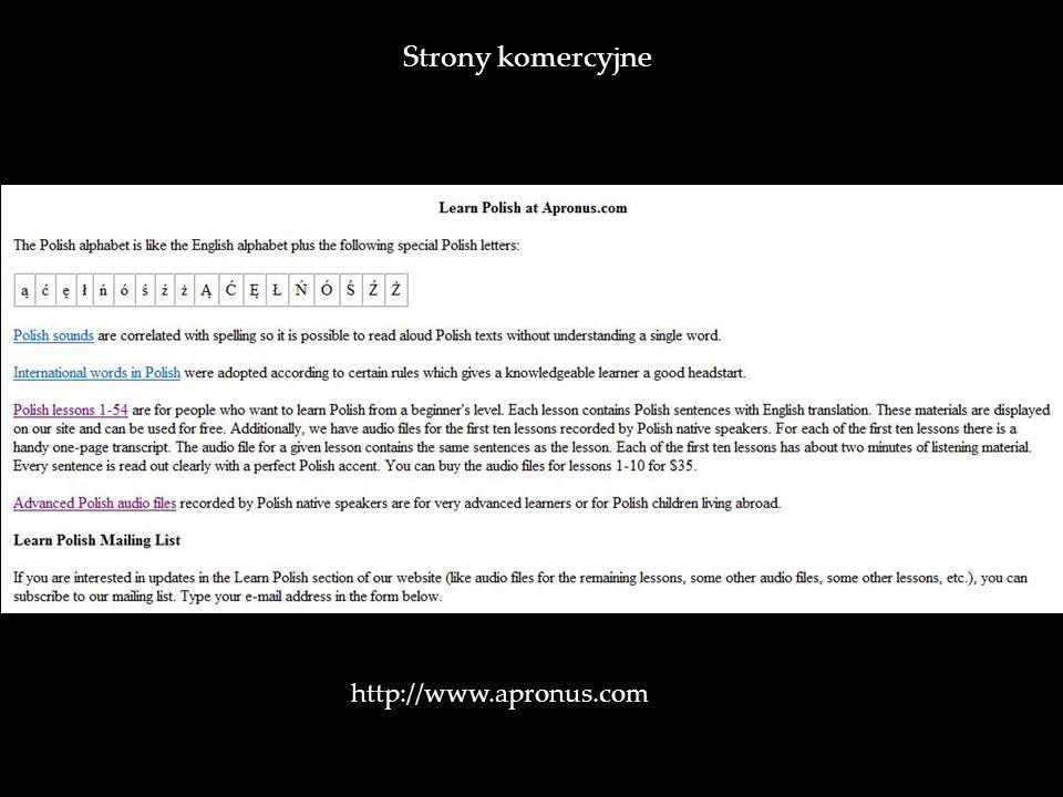 http://www.apronus.com Strony komercyjne