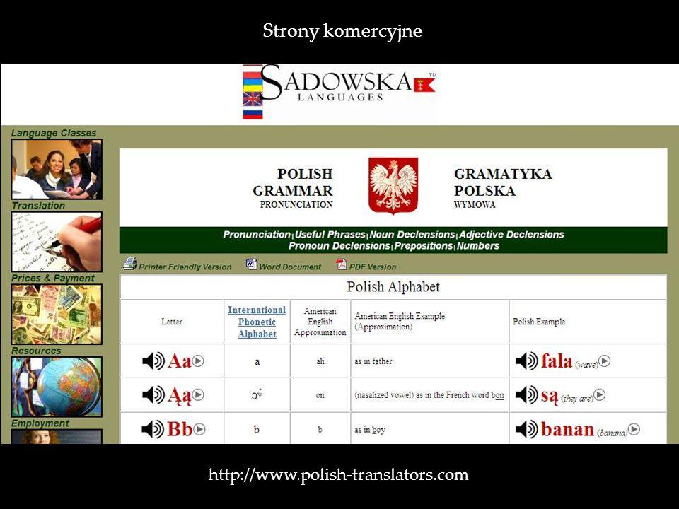 http://www.polish-translators.com Strony komercyjne