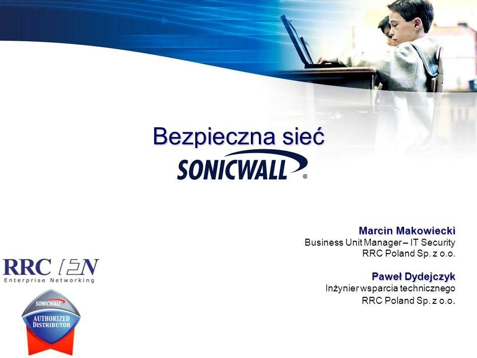 1.O SonicWALL 2.Program partnerski Medalion 3.Portal partnerski www.MySonicWALL.com 4.Rozwiązania bezpieczeństwa sieci –Seria TZ –Seria PRO –Usługi bezpieczeństwa –TotalSecure –Bezpieczeństwo sieci bezprzewodowej –Filtrowanie treści stron www –SSL-VPN –Ochrona danych (CDP) –Ochrona poczty (Email Security) 5.Scentralizowane zarządzanie i raportowanie 6.Usługi wsparcia technicznegoAgenda