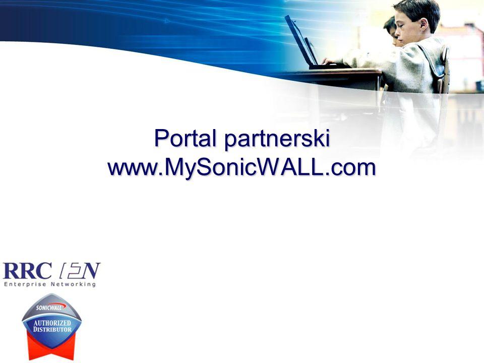 Portal partnerski www.MySonicWALL.com