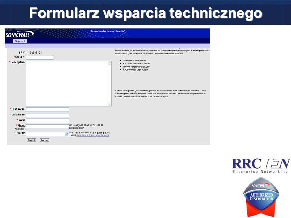 Formularz wsparcia technicznego