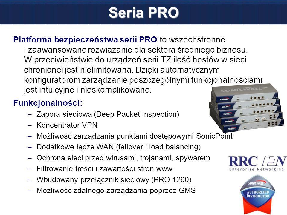 Seria PRO Platforma bezpieczeństwa serii PRO to wszechstronne i zaawansowane rozwiązanie dla sektora średniego biznesu. W przeciwieństwie do urządzeń