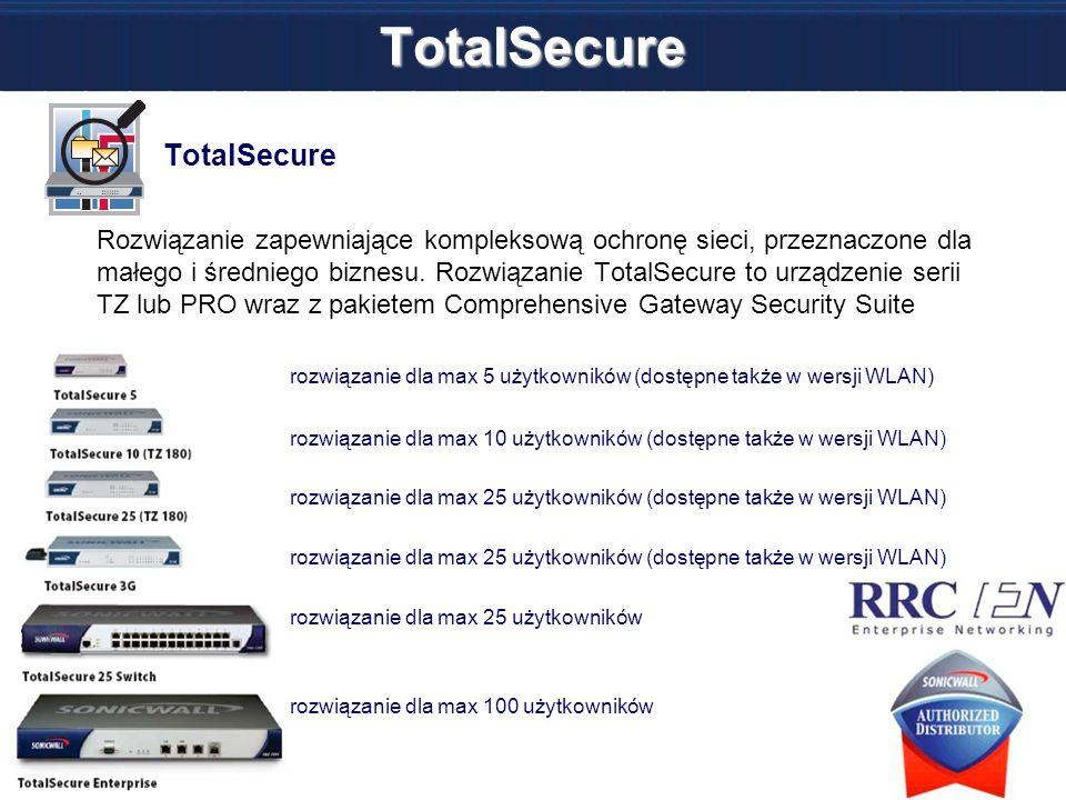 TotalSecure TotalSecure Rozwiązanie zapewniające kompleksową ochronę sieci, przeznaczone dla małego i średniego biznesu. Rozwiązanie TotalSecure to ur