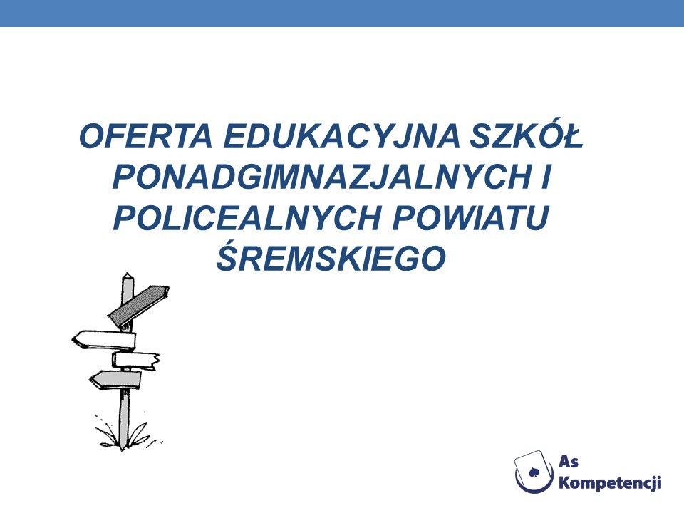 OFERTA EDUKACYJNA SZKÓŁ PONADGIMNAZJALNYCH I POLICEALNYCH POWIATU ŚREMSKIEGO