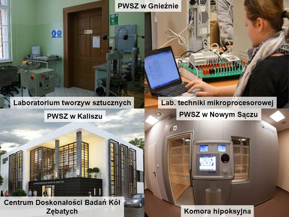 Laboratorium tworzyw sztucznychLab. techniki mikroprocesorowej PWSZ w Gnieźnie PWSZ w Kaliszu Centrum Doskonałości Badań Kół Zębatych PWSZ w Nowym Sąc