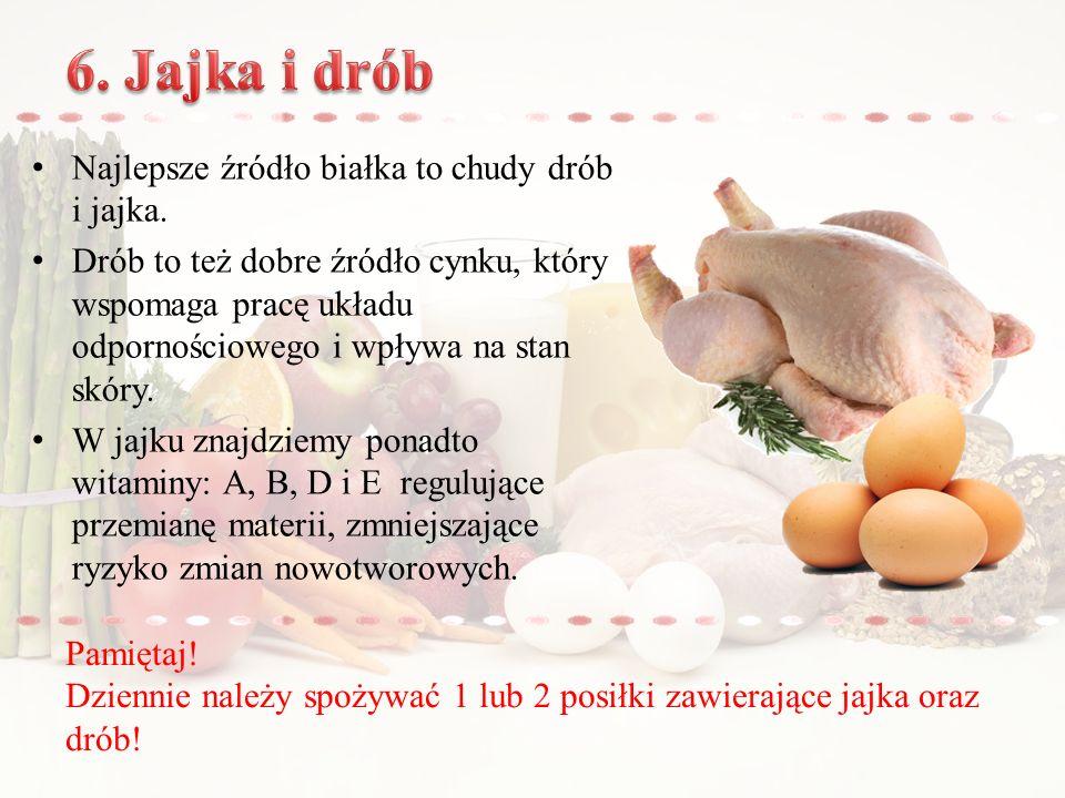 Najlepsze źródło białka to chudy drób i jajka.