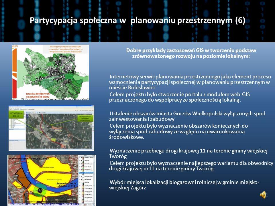 Partycypacja społeczna w planowaniu przestrzennym (5) Jednym z coraz częściej stosowanych narzędzi w procesach konsultacji społecznych w planowaniu przestrzennym są techniki geowizualizacyjne ukierunkowane na różne grupy odbiorców.