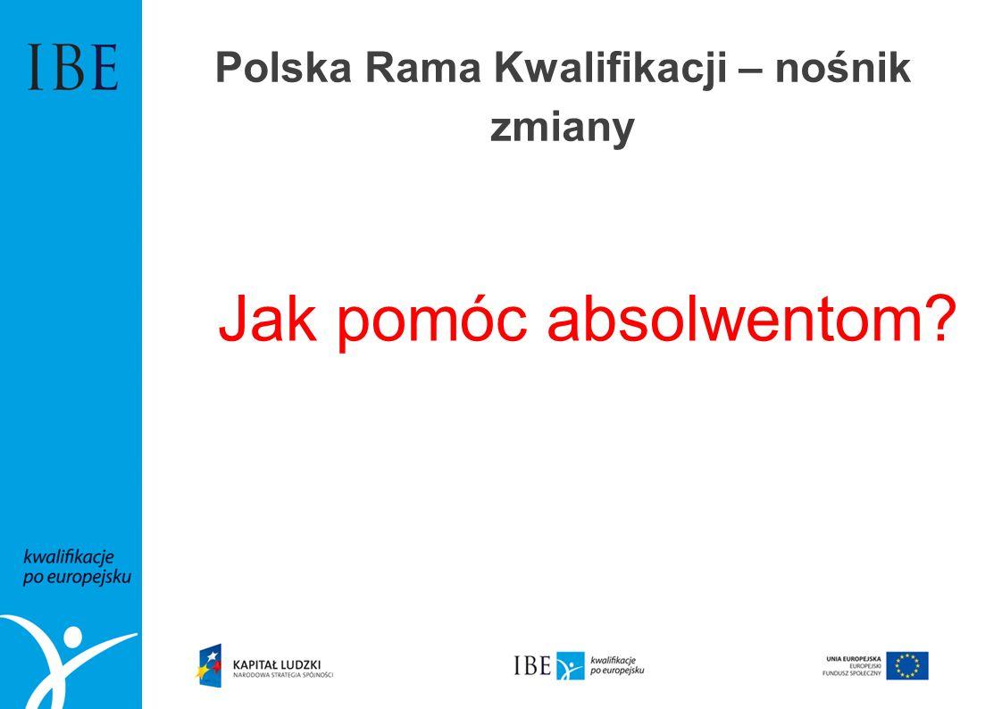 Polska Rama Kwalifikacji – nośnik zmiany Jak pomóc absolwentom?
