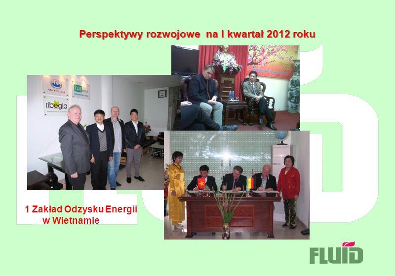 Perspektywy rozwojowe na I kwartał 2012 roku 1 Zakład Odzysku Energii w Wietnamie