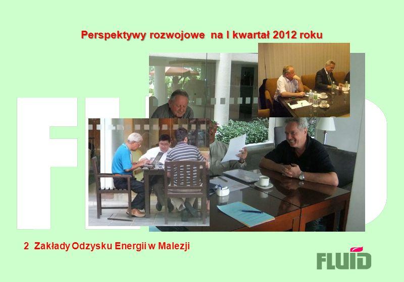 Perspektywy rozwojowe na I kwartał 2012 roku 2 Zakłady Odzysku Energii w Malezji