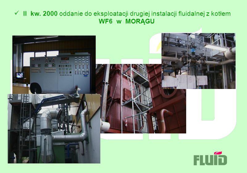 II kw. 2000 oddanie do eksploatacji drugiej instalacji fluidalnej z kotłem WF6 w MORĄGU