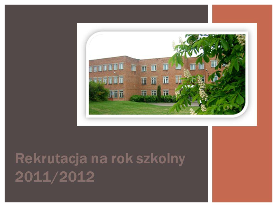 Rekrutacja na rok szkolny 2011/2012