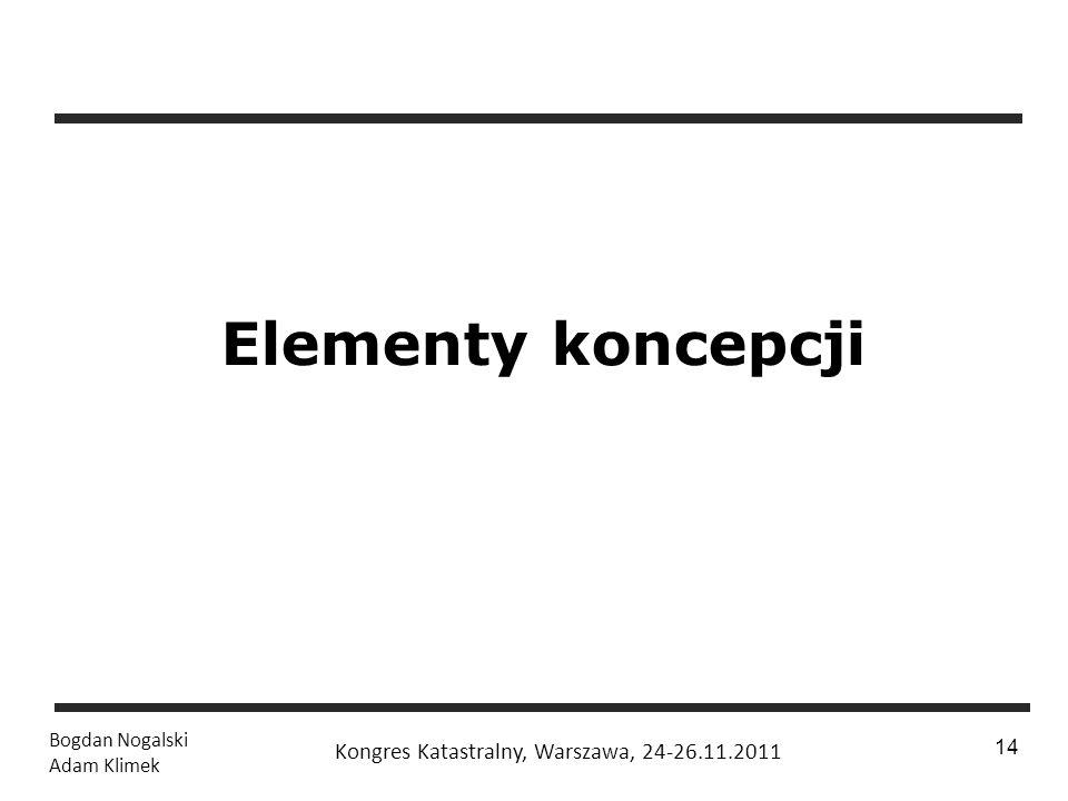 1 / 24 Bogdan Nogalski Adam Klimek Kongres Katastralny, Warszawa, 24-26.11.2011 14 Elementy koncepcji