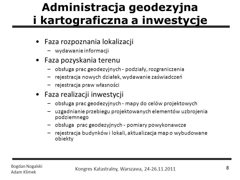 1 / 24 Bogdan Nogalski Adam Klimek Kongres Katastralny, Warszawa, 24-26.11.2011 8 Administracja geodezyjna i kartograficzna a inwestycje Faza rozpozna