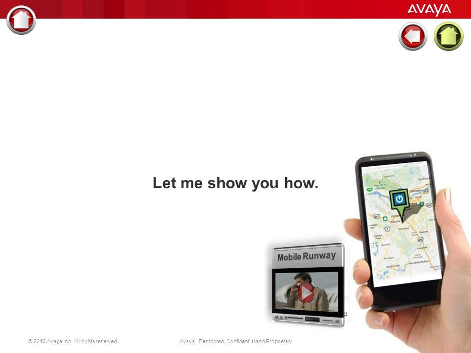 © 2012 Avaya Inc. All rights reserved. 13 Avaya - Restricted, Confidential and Proprietary Firmowa książka adresowa w smartphonie Zarządzanie konferen