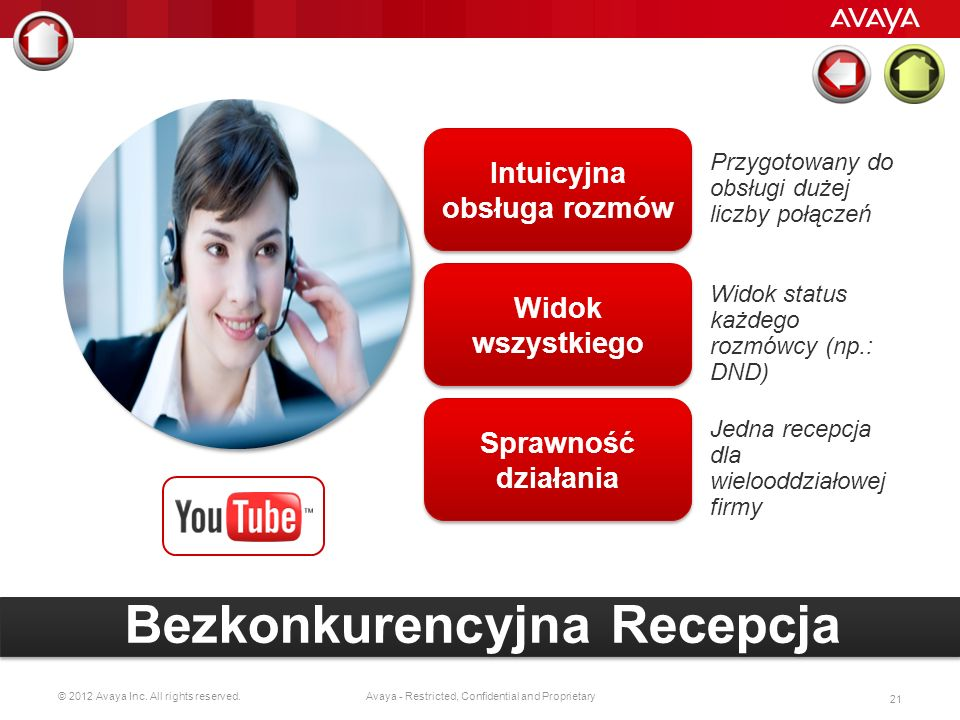 © 2012 Avaya Inc. All rights reserved. 20 Avaya - Restricted, Confidential and Proprietary Let me show you how.