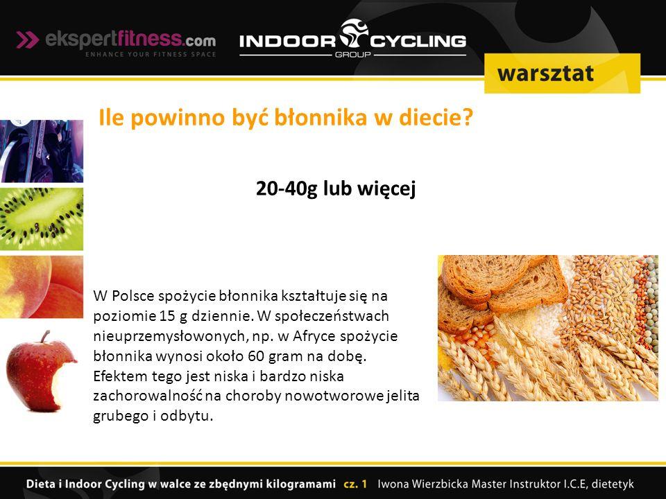 W Polsce spożycie błonnika kształtuje się na poziomie 15 g dziennie.