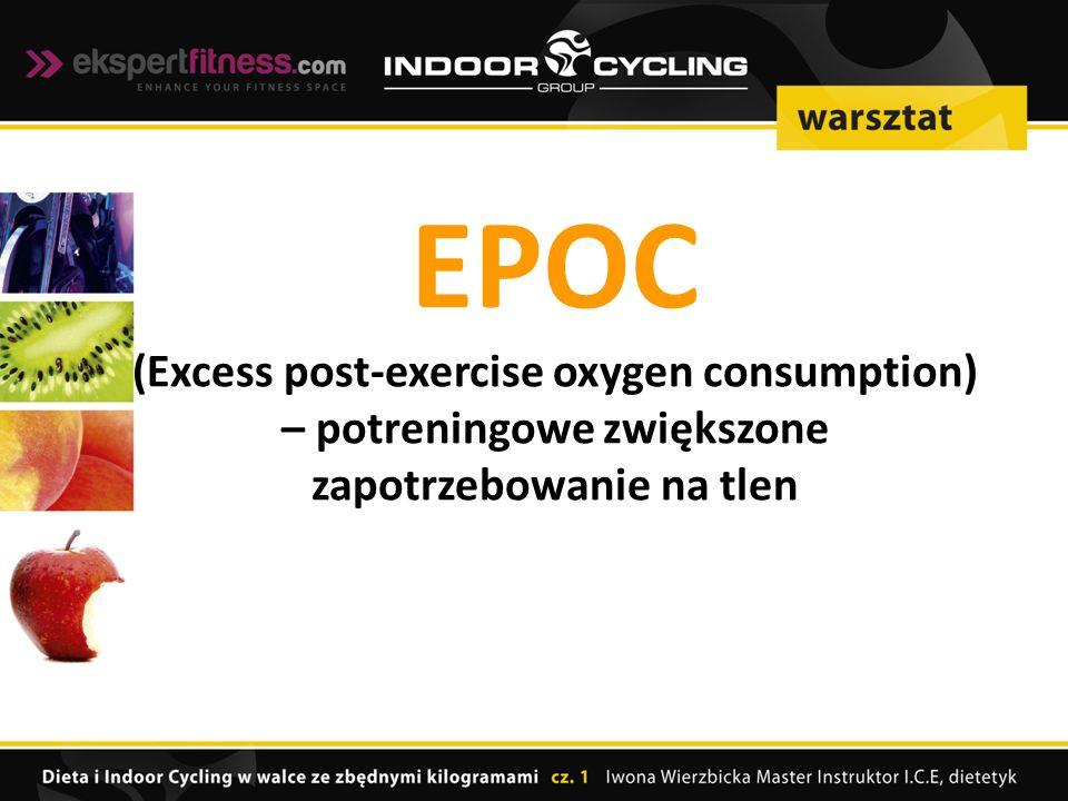 EPOC (Excess post-exercise oxygen consumption) – potreningowe zwiększone zapotrzebowanie na tlen