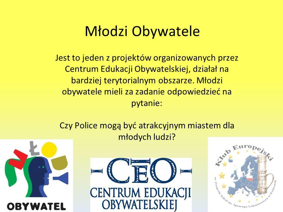Młodzi Obywatele Jest to jeden z projektów organizowanych przez Centrum Edukacji Obywatelskiej, działał na bardziej terytorialnym obszarze. Młodzi oby