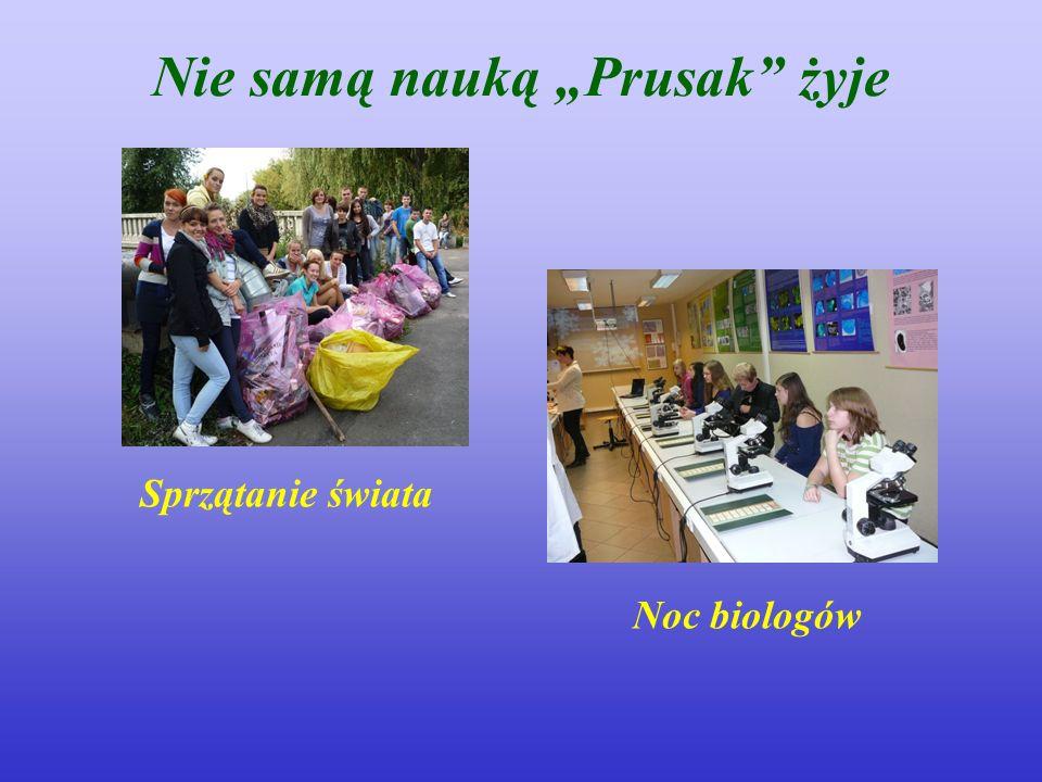 Nie samą nauką Prusak żyje Sprzątanie świata Noc biologów