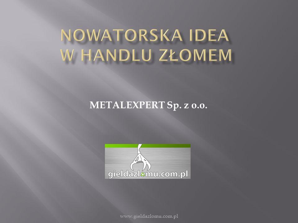 METALEXPERT Sp. z o.o. www.gieldazlomu.com.pl