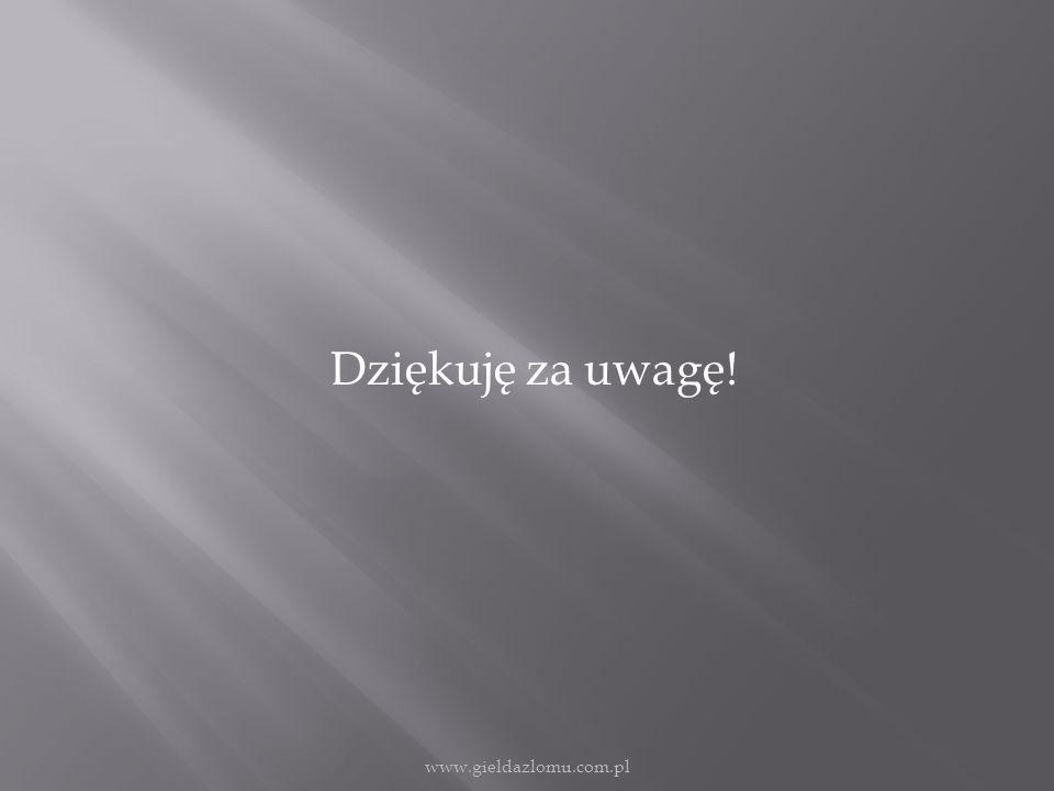 Dziękuję za uwagę! www.gieldazlomu.com.pl