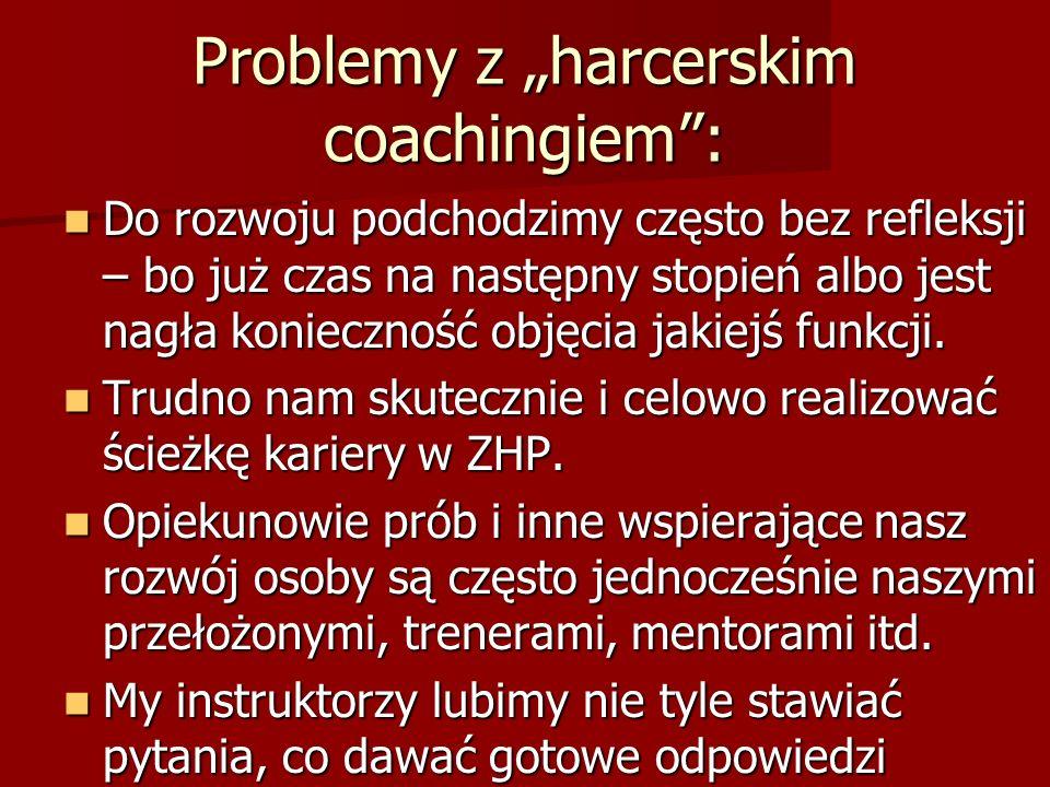 Problemy z harcerskim coachingiem: Do rozwoju podchodzimy często bez refleksji – bo już czas na następny stopień albo jest nagła konieczność objęcia jakiejś funkcji.