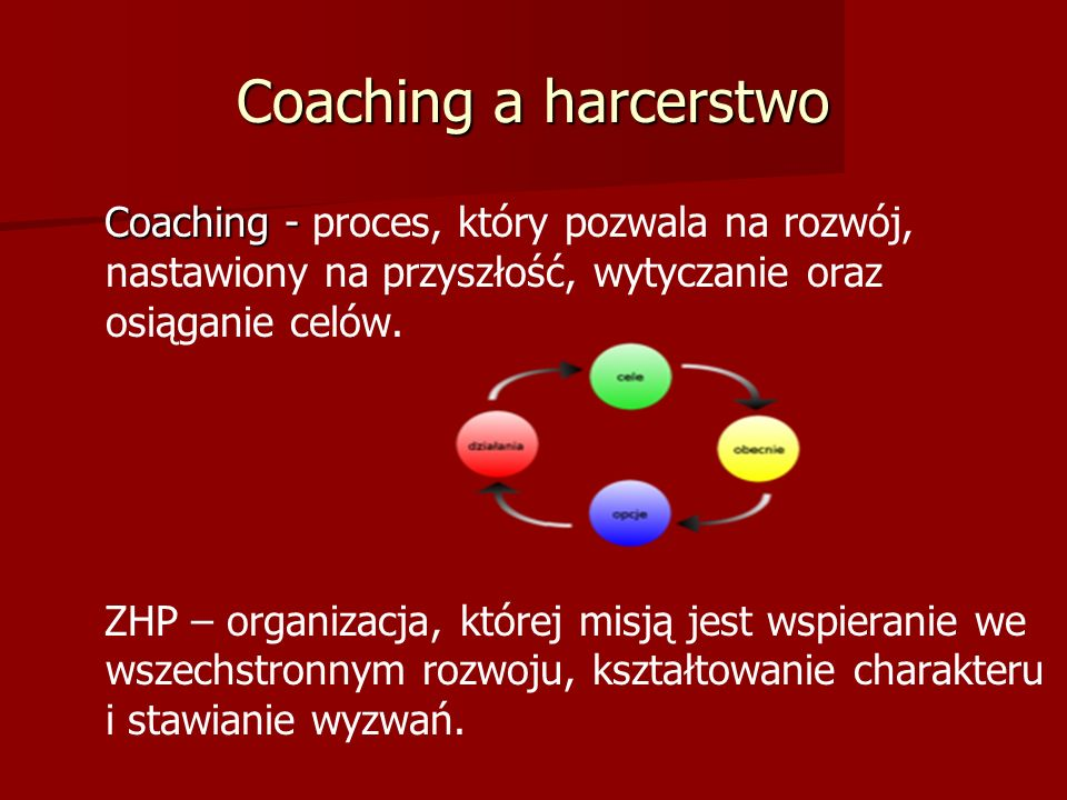Harcerski coaching.