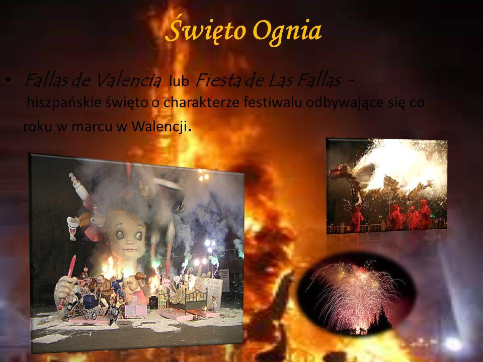 Walka z bykiem czyli corrida de toros jest jednym z symboli Hiszpanii. Korridy odbywają się najczęściej z okazji świąt czy uroczystości. Sezon korridy