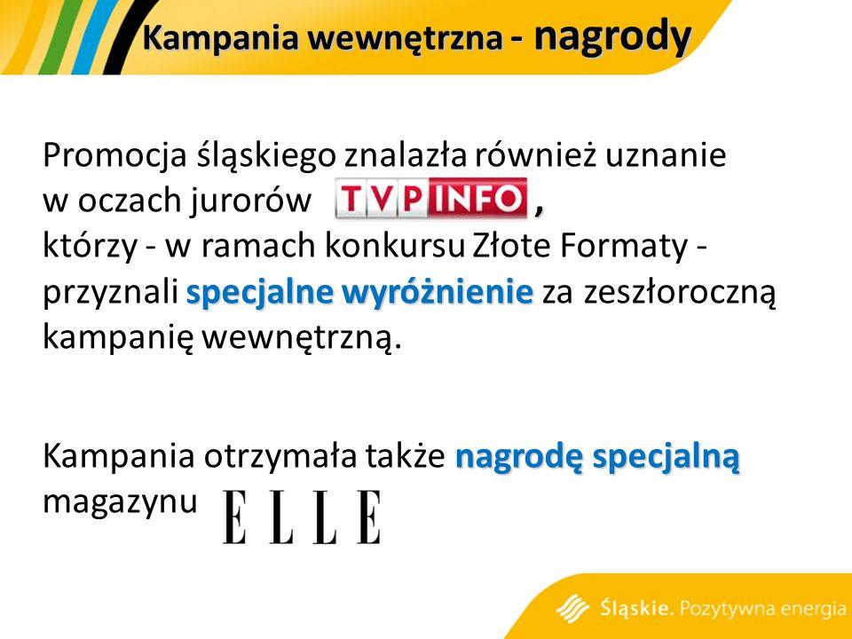 , specjalne wyróżnienie Promocja śląskiego znalazła również uznanie w oczach jurorów, którzy - w ramach konkursu Złote Formaty - przyznali specjalne wyróżnienie za zeszłoroczną kampanię wewnętrzną.